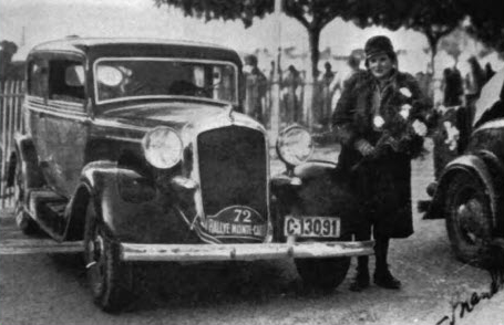 Irma and her 1933 Plymouth