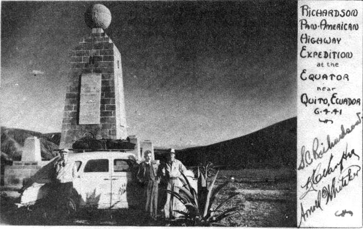 The expedition near the equator.