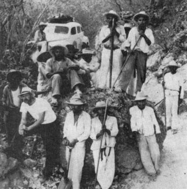 A group of Mexican-Indian workers.